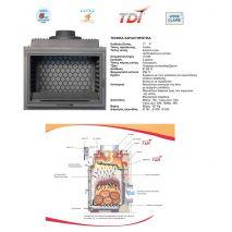 Ενεργειακό Τζάκι TURBO FONTE 77 P 15 KW