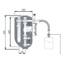 ΑΝΤΛΗΤΙΚΟ ΣΥΓΚΡΟΤΗΜΑ LovaSOL TDC4 DN 25 με ενσωματωμένο διαφορικό θερμοστάτη