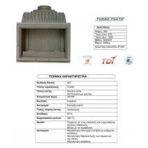 Ενεργειακό Τζάκι TURBO FONTE 957 P 23 KW