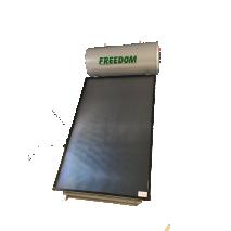 Ηλιακός θερμοσίφωνας 100lt FREEDOM Plus δυναμικότητας με συλλέκτη επιλεκτικό τιτανίου FULL FLAT PLATE 1,50τμ σε 12 Άτοκες δόσεις