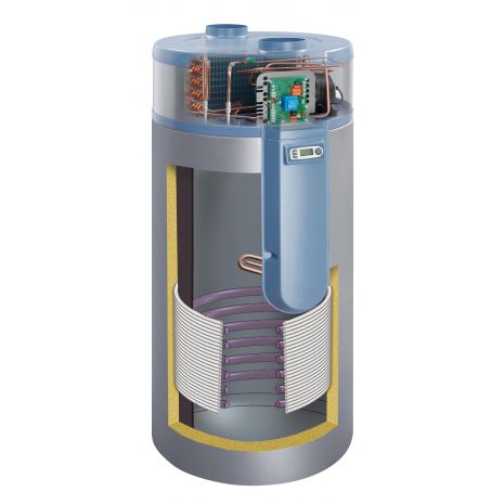 Αντλία Θερμότητας Παροχής Ζεστού Νερού Χρήσης με Ενσωματωμένο Boiler 300L Auer Cylia Air