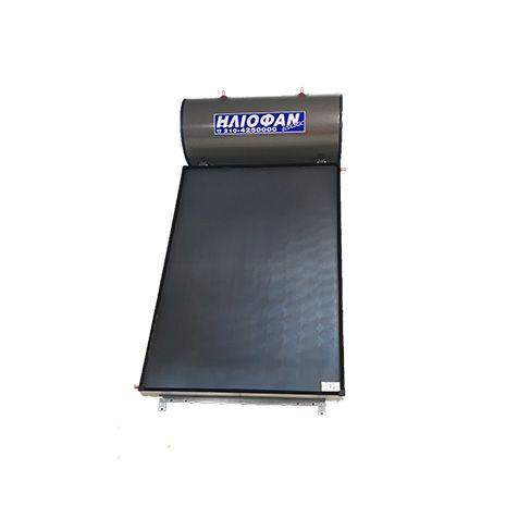 Ηλιακός Θερμοσίφωνας 175lt ΗΛΙΟΦΑΝ EcoLogic  Επιλεκτικός Τιτανίου 2.30τμ Διπλής Ενέργειας ΣΕ 12 ΑΤΟΚΕΣ ΔΟΣΕΙΣ GlassPlus
