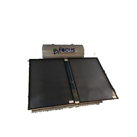 Ηλιακός Θερμοσίφωνας 300lt  FOCUS GLASS Επιλεκτικός τιτανίου