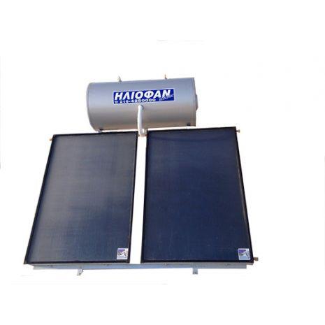 Ηλιακός Θερμοσίφωνας 250lt ΗΛΙΟΦΑΝ EcoLogic Επιλεκτικός Τιτανίου 3.65τμ Τριπλής Ενέργειας ΣΕ 12 ΑΤΟΚΕΣ ΔΟΣΕΙΣ GlassPlus